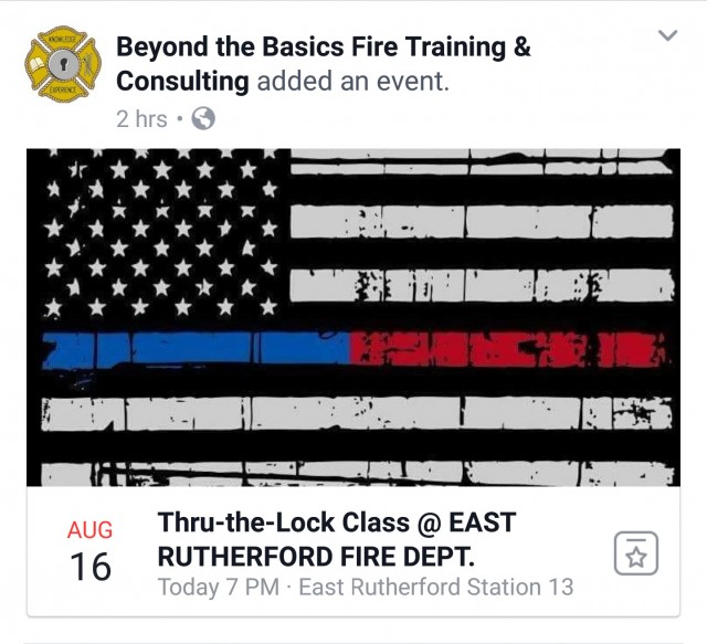 Thru-the-Lock Training @ East Rutherford FD