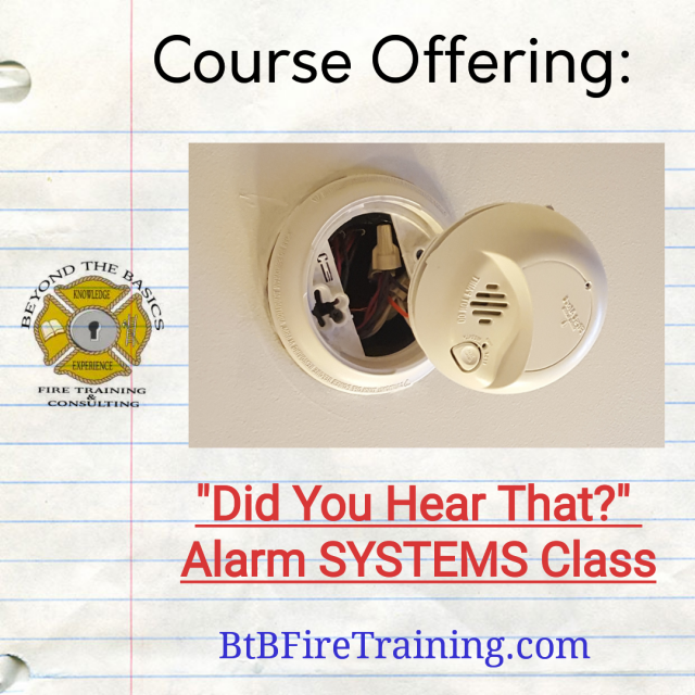 Planning Your Winter Training Schedule -  Check Out Our Alarm Systems Class